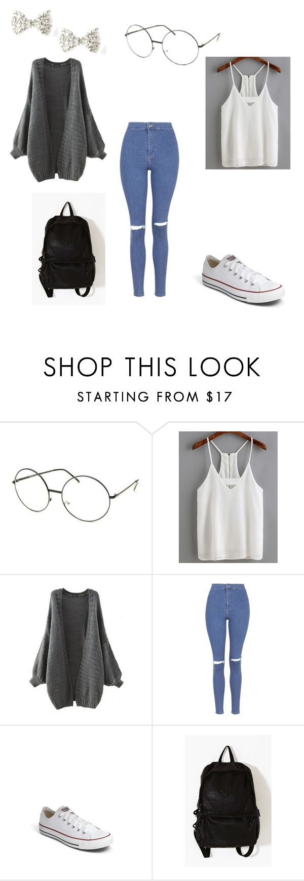 Class Inspo by kaeanita on Polyvore featuring Topshop, Converse, 7 Chi, women's clothing, women's fashion, women, female, woman, misses and juniors