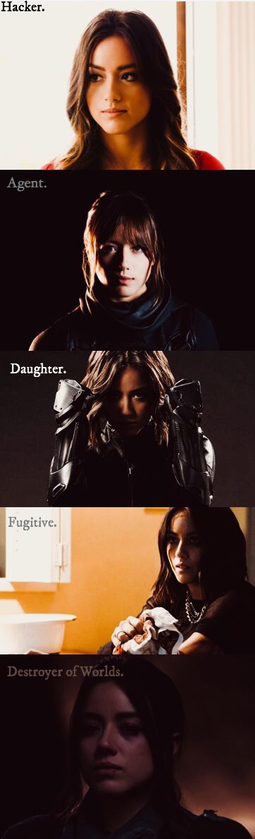Agents of Shield. Daisy Johnson through the seasons. Season 1-5.