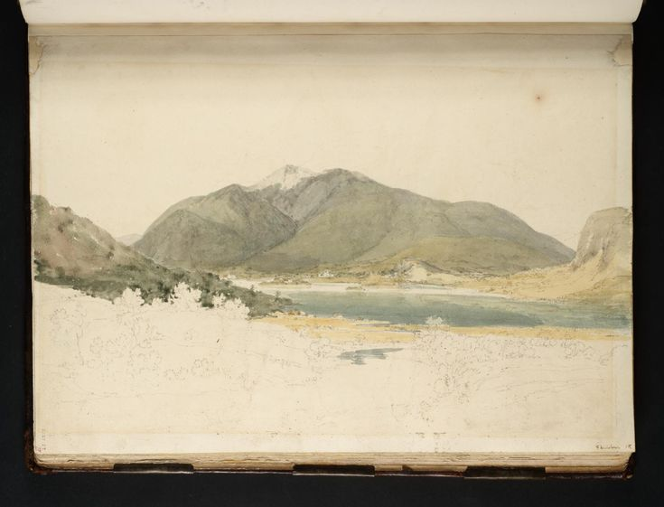 Joseph Mallord William Turner - View across Derwentwater towards Skiddaw from Grange Fell, 1797