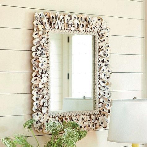 [oyster shell mirror] [shore décor]  I  ballarddesigns.com