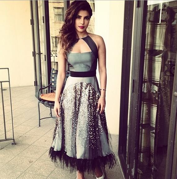 #‎Spotted‬  ‪#‎PriyankaChopra‬ makes her appearance at the Golden Globes Awards 2014.