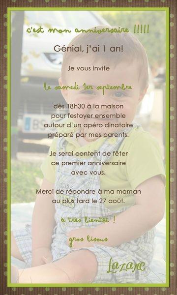 invitation 1 an Lazare