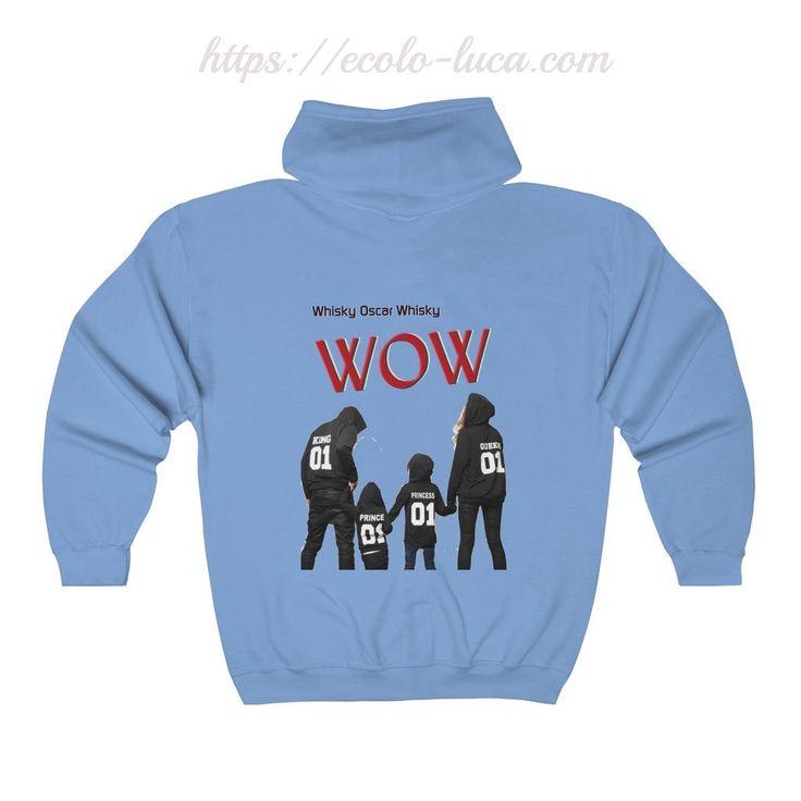 WOW Family Unisex Zip Hooded Sweatshirt – Ecolo.luca