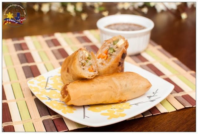 Pinay In Texas Cooking Corner: Pritong Lumpiang Togue (Fried Mung Bean Sprouts Egg Rolls) with Vinegar Soy Sauce Dip