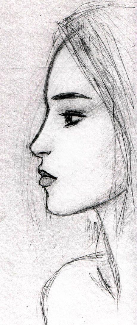 Dessin visage profil
