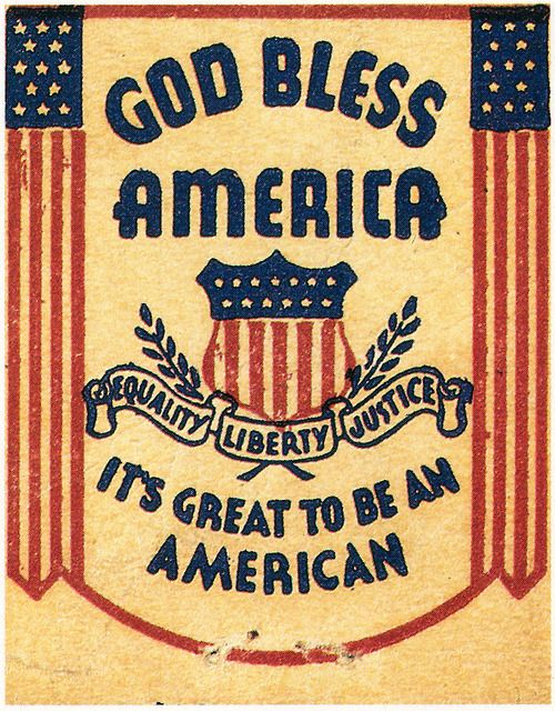God Bless America (Its Great to be an American), undated.FromClose Cover Before Striking, 1987.