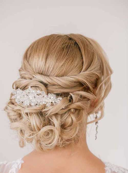 Best Wedding Party Hairstyles Images On Pinterest
