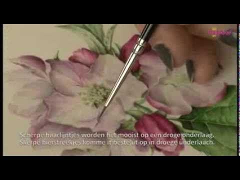 Botanisch schilderen met Sigrid Frensen-de Vries - YouTube