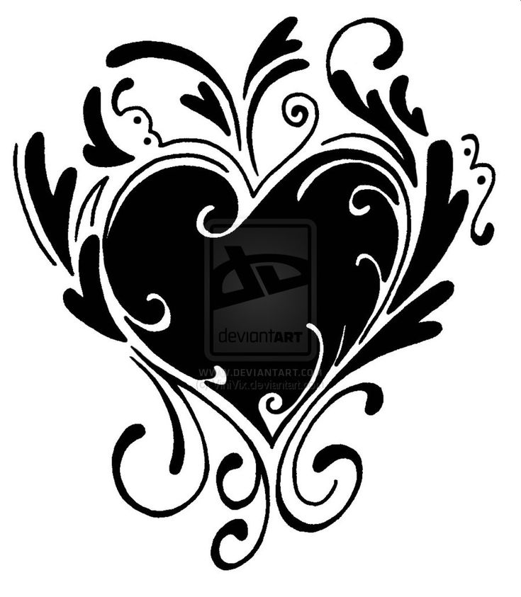 Go Back Images For Simple Black Heart Tattoo