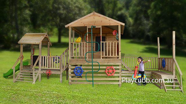 DIY cubby houses - Queenslander Gym cubby house | Playcubb Australia
