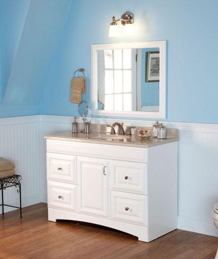 What would you buy to transform your bathroom into a bright, airy space? The Providence 48in vanity meets the criteria. Expertly crafted to work in a smaller master bathroom, you can find it here at The Home Depot: http://www.homedepot.com/h_d1/N-5yc1v/R-202487367/h_d2/ProductDisplay?catalogId=10053=-1=St.%20Paul%20providence=10051  Soon we will have complete bathroom suites that will satisfy folks looking for one-stop shopping.