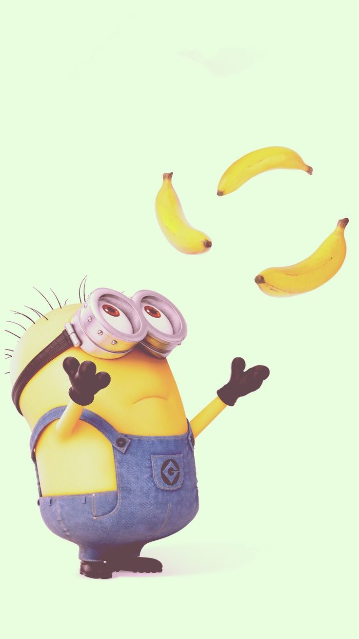 2014 Halloween cute minion and bananas iphone 6 wallpaper - Despicable Me iphone 6 wallpaper