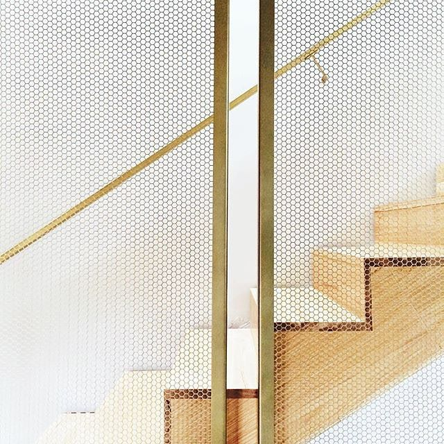 """3,811 Likes, 63 Comments - MyDomaine (@mydomaine) on Instagram: """"We can't stop STAIRing at the gorgeous and subtle metallics (yes, we went there). 