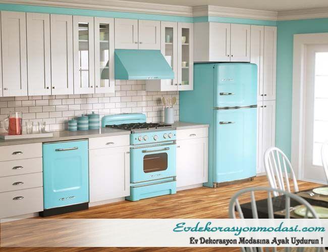 2017 renkli mutfak dekorasyonu