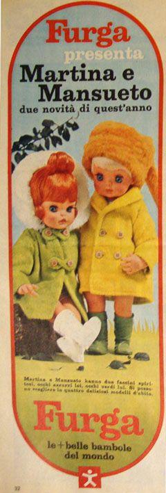 Martina e Mansueo Furga pubblicità 1968