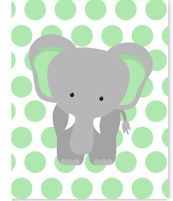 Elephant Nursery Art, Gender Neutral Baby Decor, Children's Decor, Toddler Room, Jungle Nursery, Zoo Nursery, Elephant Canvas Art, Safari by SweetPeaNurseryArt on Etsy
