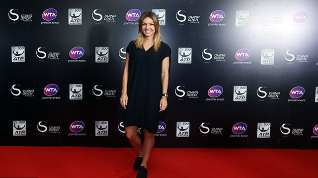 The big names in women's tennis – like Simona Halep – came out for a star-studded red carpet gala in Beijing for the China Open player party.