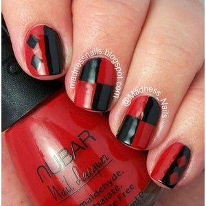 #31DC2014 Red Nails aka Harley Quinn Nails