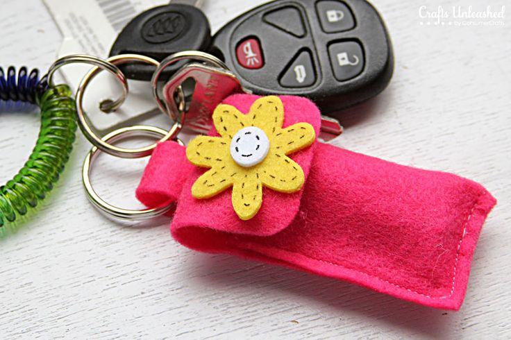 Chapstick Holder Key Ring Craft - Great for Kids! Full step by step tutorial. It looks easy!