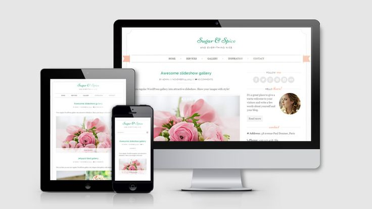 Here's a beautiful feminine website theme perfect for event planners, florists, photographers, bakeries or just a personal blog. And It's Free.