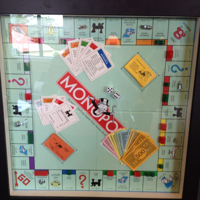 Monopoly Game Board Framed-great Game Room Decor
