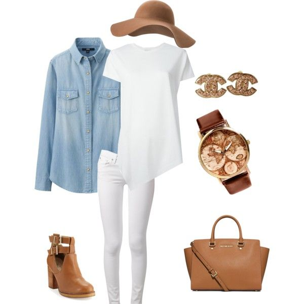 Early Spring look by jadeclaire19 on Polyvore featuring Balenciaga, Uniqlo, rag & bone, Seychelles, MICHAEL Michael Kors, Chanel and MANGO