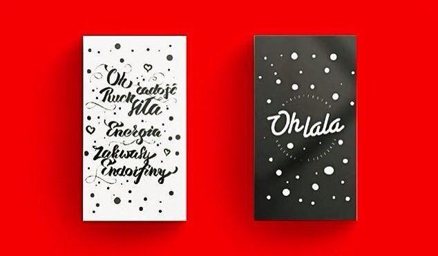 Ohlala xmas giftcards /  Caligraphy