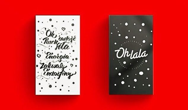 Ohlala xmas giftcards /  Caligraphy