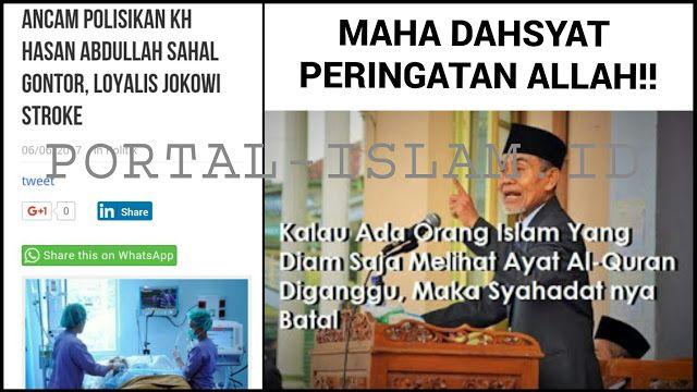 Dahsyatnya Peringatan Allah! Loyalis Jokowi yang Ancam Polisikan KH Abdullah Sahal Gontor Dikabarkan Stroke http://news.beritaislamterbaru.org/2017/06/dahsyatnya-peringatan-allah-loyalis.html