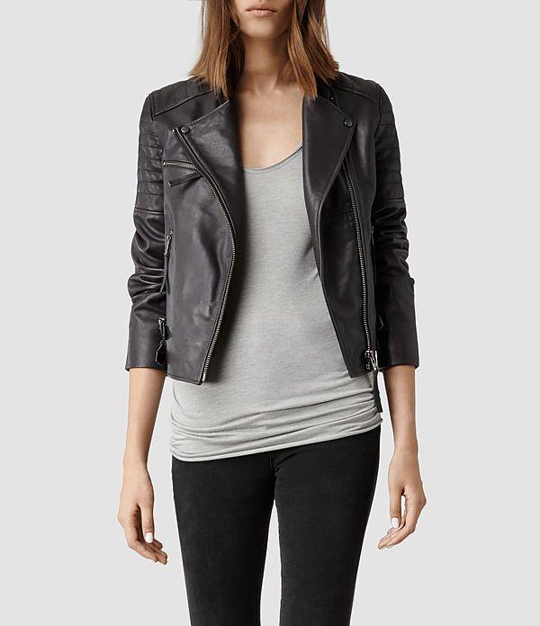 All Saints Dorsey Leather Biker Jacket