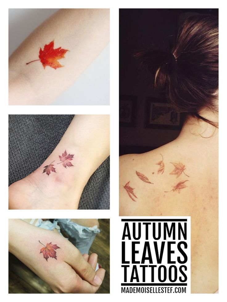 Tattoo ideas - Autumn leaves on http://www.mademoisellestef.com