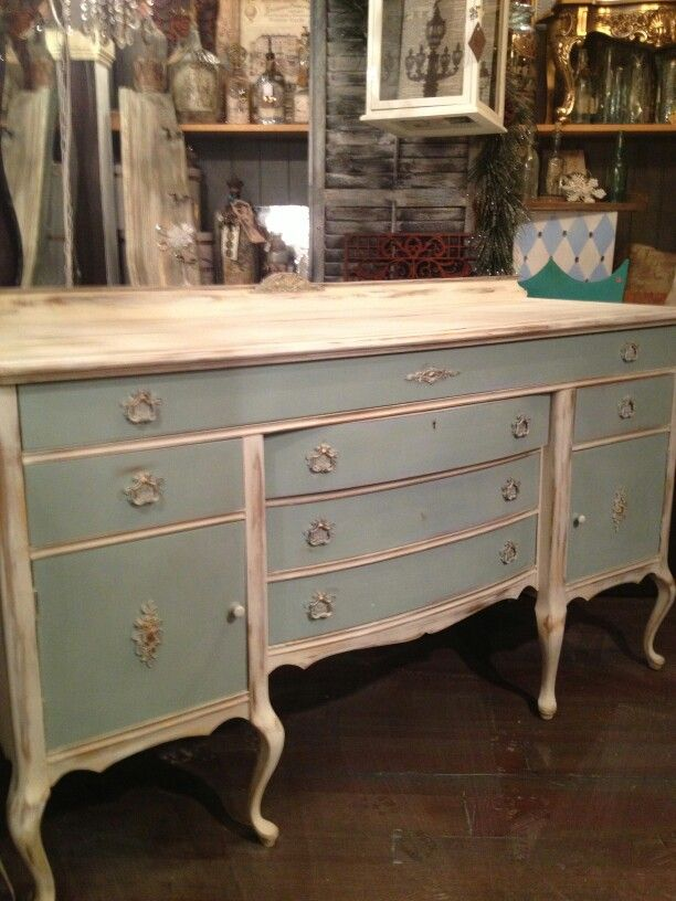 Chalk Paint® Decorative Paint by Annie Sloan - Duck Egg Blue and Old White. Beautiful! | duck egg blue | chalk paint® in 2018 | Pinterest | Painted Furniture,…