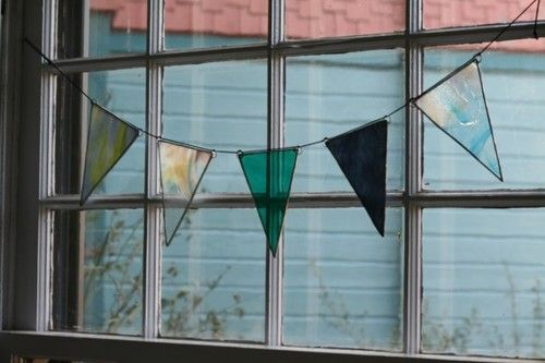 Stained Glass Bunting: Buntings Items For The Hom, Reclaimed Glasses, Apartment Him, Art Stained, Beautiful Buntings, Glasses Ideas, Beaches Houses, Glasses Buntings Pretty, Stained Glasses