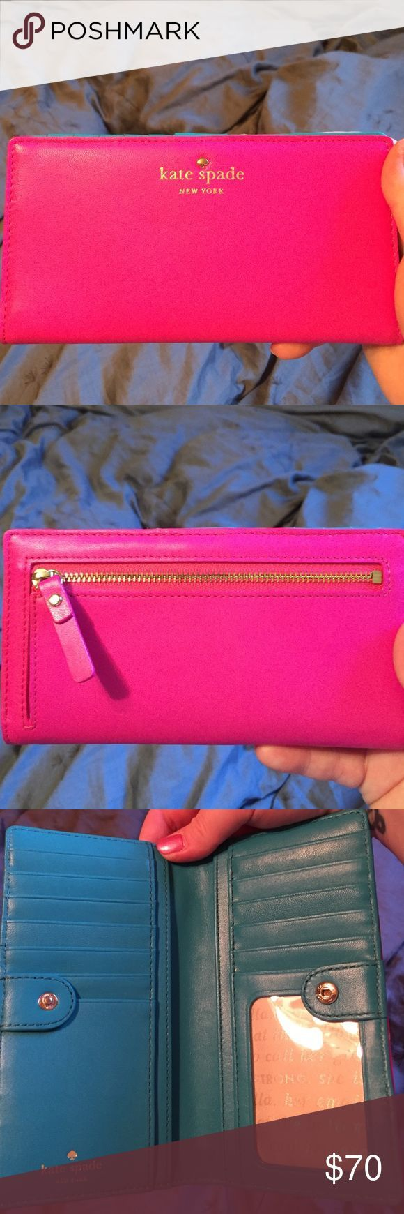 Kate Spade Cobble Hill Stacey wallet Pink outside, blue inside. Lots of room for cards. Brand new, never used kate spade Bags Wallets - handbags online sale, designer womens purses, leather handbags sale *sponsored https://www.pinterest.com/purses_handbags/ https://www.pinterest.com/explore/hand-bags/ https://www.pinterest.com/purses_handbags/leather-purses/ http://www.polyvore.com/handbags/shop?category_id=318