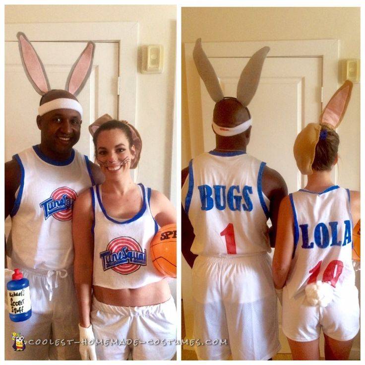 space jams bugs and lola bunny couple costume homemade halloweenhomemade costumesdiy costumeshappy halloweenhalloween ideashalloween - How To Make Homemade Costumes For Halloween