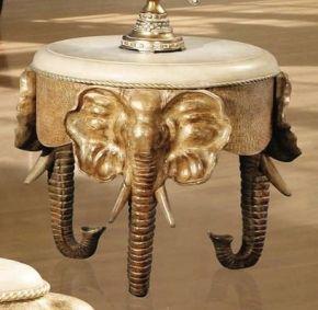 Best El4329E Elephant End Table In Dark Cherry Finish Слоны 400 x 300