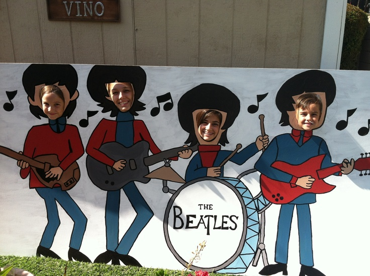 Beatles cutout I made for my mother-in-law's 60th birthday party