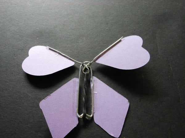 How To Make A Twirling Paper Butterfly Flying Butterfly Card Paper Butterfly How To Make Butterfly