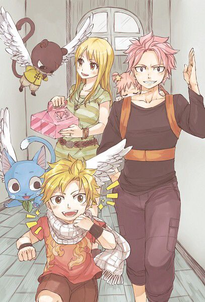 Nalu, with kids Luke a...