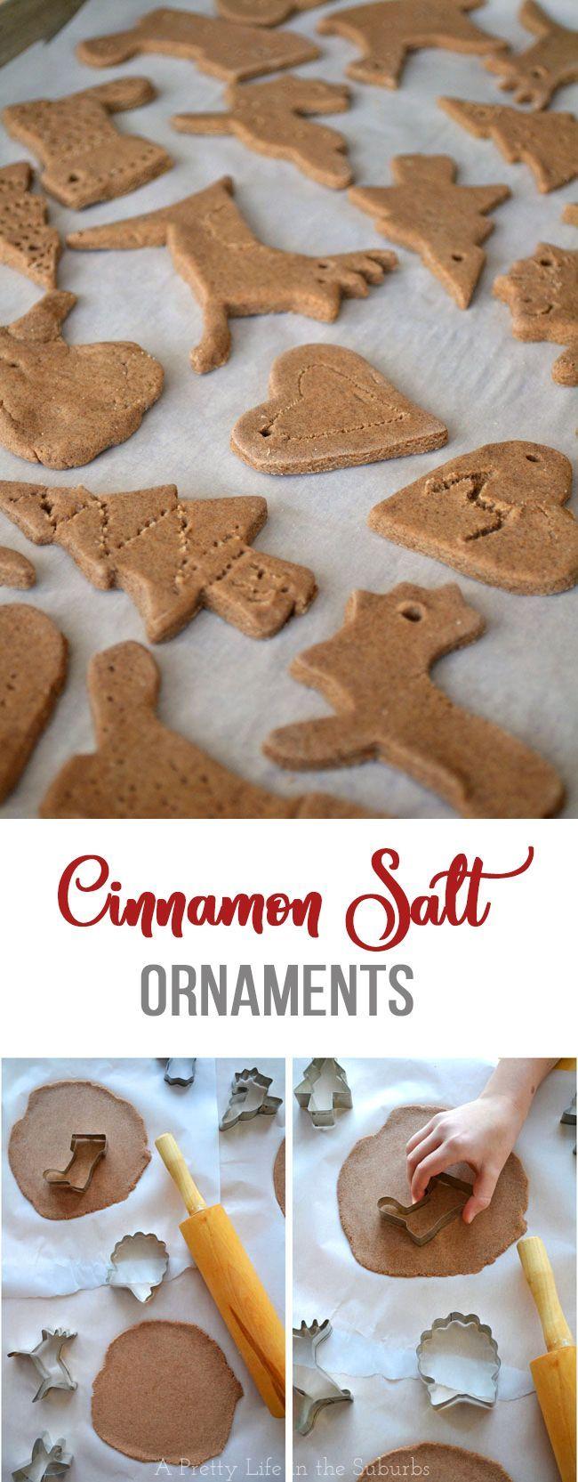 Cinnamon Salt Ornaments // A great craft for kid…