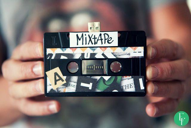 DIY project -  Let's Make a Mixtape! #diy #diyproject #doityourself #cassette #mixtape #vintage #oldschool #usbstick #gift #giftidea #valentines #perfectgift #boyfriend #girlfriend #someoneyoulove