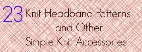 1000 ideas about knit headband pattern on pinterest