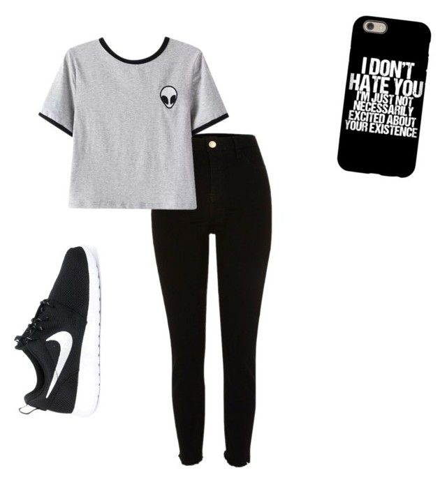 """""""Aliens """" by shamelesslymaya on Polyvore featuring Chicnova Fashion and NIKE"""