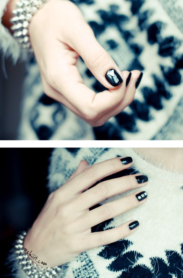Studded nails - too cool!