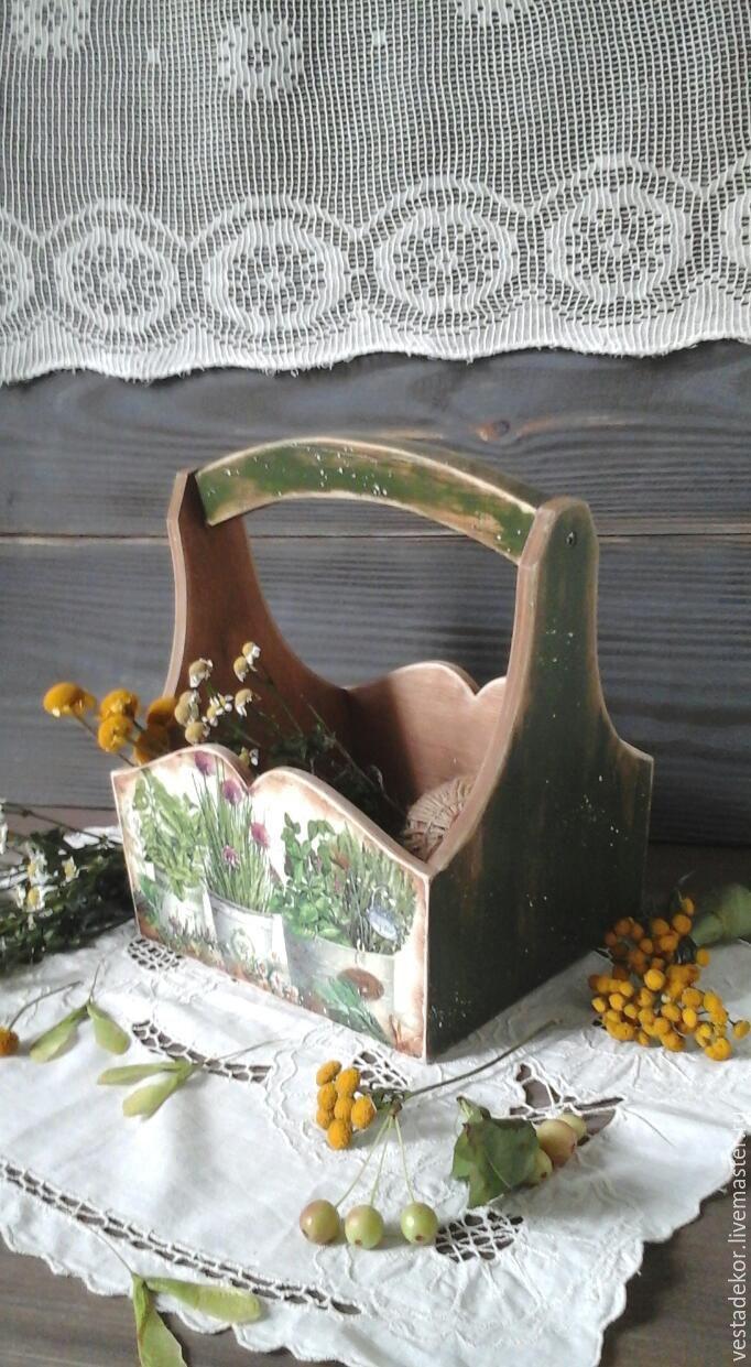 Купить Корзинка Прованские  травы  в стиле кантри,винтаж - корзинка, кантри, кухня кантри