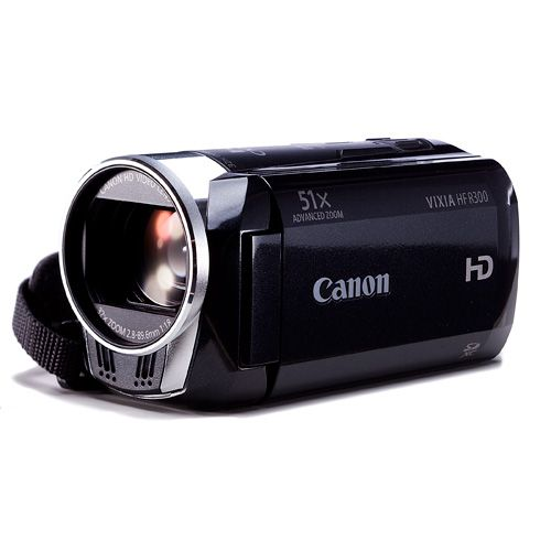 Canon Vixia HF R300- Excellent Camera!!! Very similar to the cameras I used in college and they were great. Quite a nice digital upgrade from the old tape cameras!