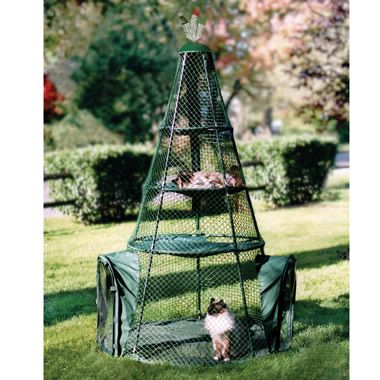 The Cat Teepee -Allow your cat to play, explore, sleep, and enjoy the outdoors in a protected enclosure.
