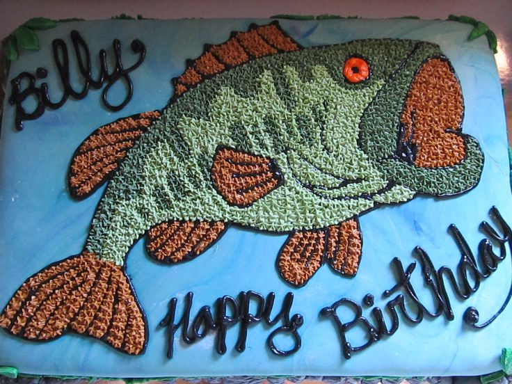 Fish birthday cake jr pinterest birthday cakes for Fish cake design