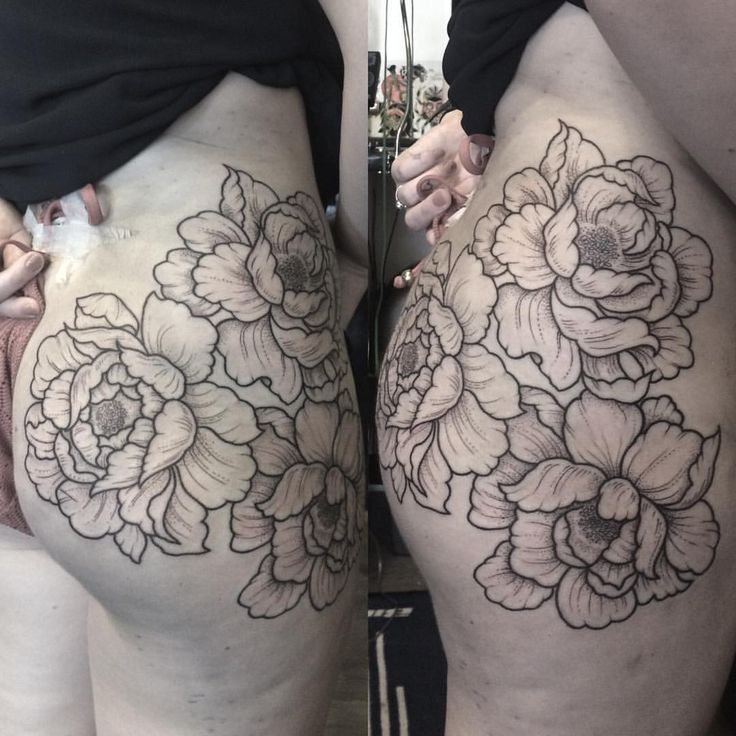 19 best peony butt tattoo images on pinterest peony for Tattoo on buttocks