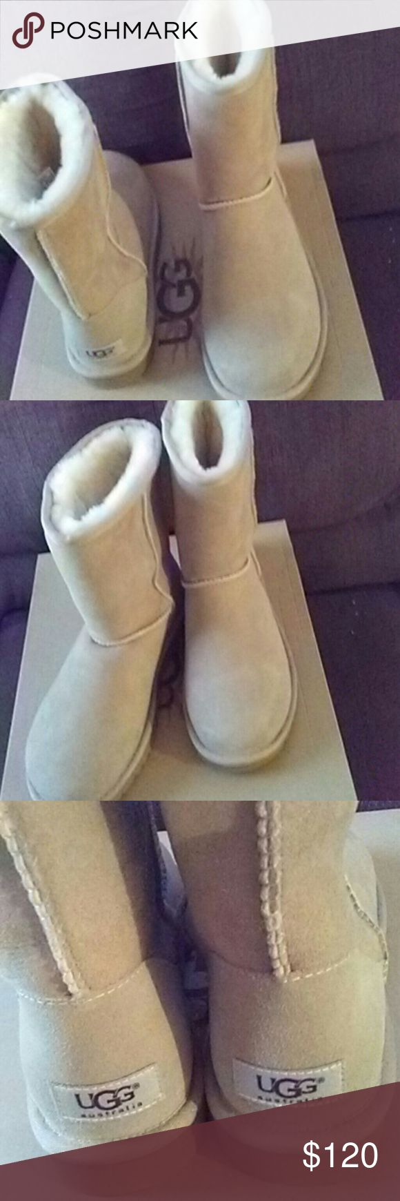 UGG Classic Short Boot in Sand color UGG Classic Short Boot in Sand color. Brand new! Never worn! UGG Shoes Winter & Rain Boots